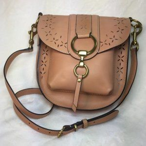 Frye Ilana Light Tan Leather Cross Body Bag